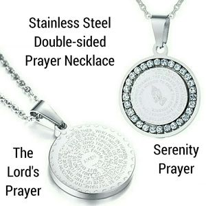 Stainless Steel Double-sided Prayer Necklace